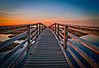 The boardwalk at sunset. Gray's Beach Yarmouth